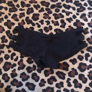 black rave shorts